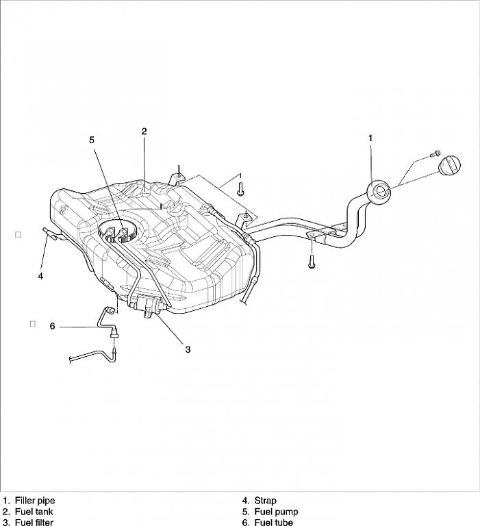 2004 kia sorento fuel filter location