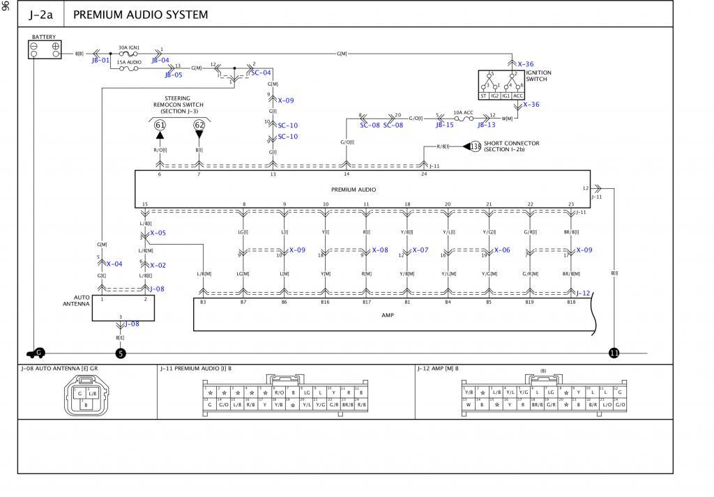 Kia Sorento 2003-2006 Audio Amplifier Pin-outs - Kia Forum