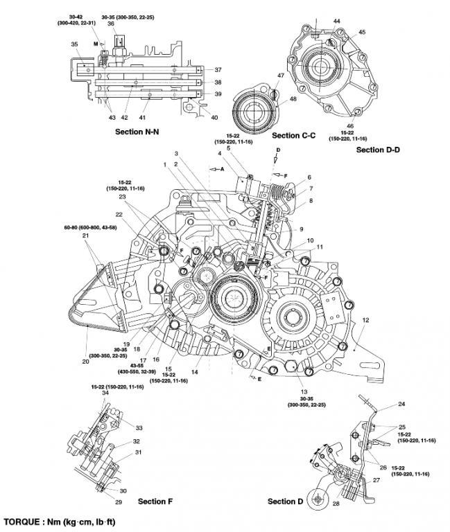 kia forte transmission diagram