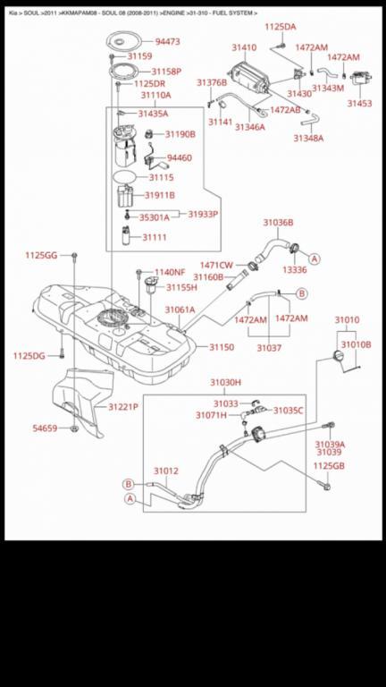 kia sportage fuel system diagram