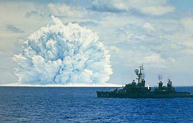 11. Underwater nuclear test