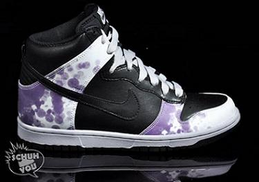 Nike Women's Dunk High- Black / White / Purple - Grey