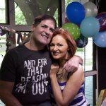 Mark Cuban stopped by to wish Kellie a happy 20th