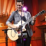 Andy Grammer performing in the Canal Side Lounge