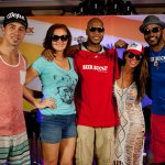Flo Rida with the cast