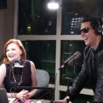Kellie with surprise guest Gabe from Cobra Starship
