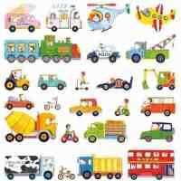 Transport Vehicles Wall Stickers - Kidiko.ie ...