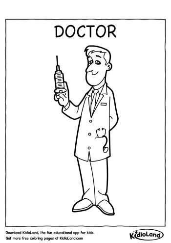 Download Free Doctor Coloring Page and educational activity