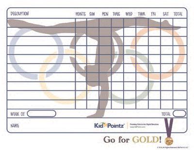 Kids Printable Behavior Chart Sports Theme Kid Pointz - printable behavior charts for home