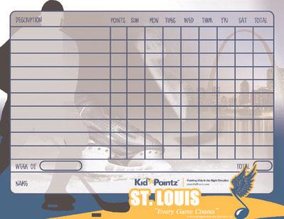 Printable Chart Sports Team Theme Kid Pointz - printable behavior charts for home