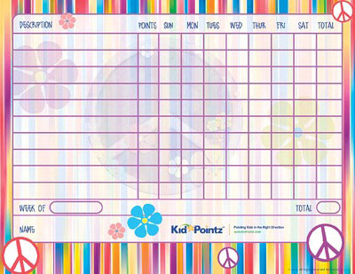 Free Printable Behavior Charts Improves Behavior Kid Pointz - printable behavior chart