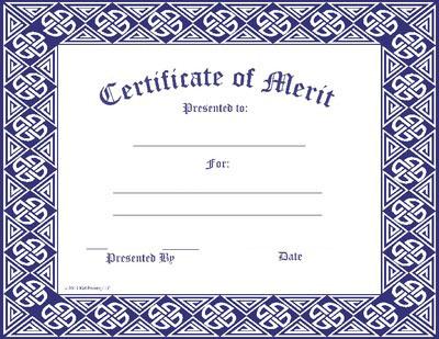 Certificate Template Merit Award Kid Pointz