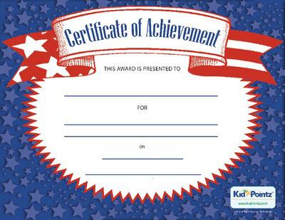 Free Achievement Award Certificates for Kids Kid Pointz