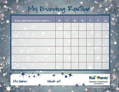 Kids Chart for Routines Kid Pointz