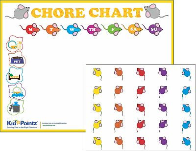 Chore Chart Color Your Own Great for Preschoolers Kid Pointz - progress chart for kids