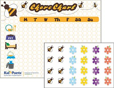 Chore Chart Color Your Own Great for Preschoolers Kid Pointz