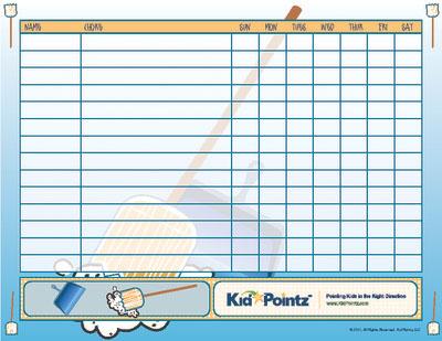 Chore Charts for Kids Multiple Kids Kid Pointz