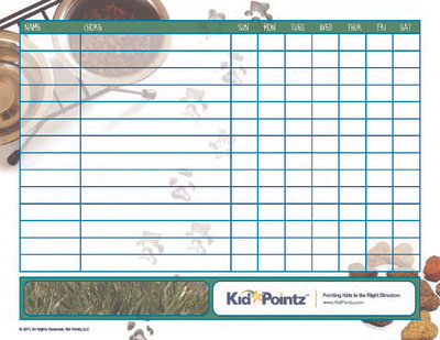 ChoreChart Children Chores List Kid Pointz