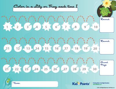 Free Printable Reward Charts Kid Pointz - free printable reward charts for kids