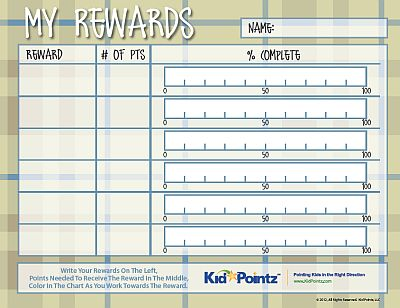 Reward Charts for Kids Kid Pointz