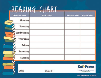 Reading Charts for Kids Kid Pointz