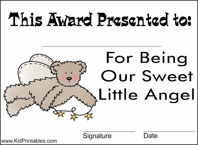 Printable Awards for Kids