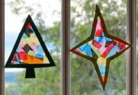 Christmas Stained Glass Sun Catcher Craft | Preschool ...