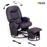 Hauck Nursing Chair Metal Glider Recline 2018 Black - Buy ...