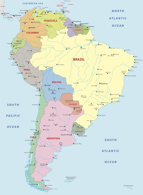 South America Facts for Kids Geography Attractions People
