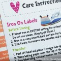 Mua Kids Iron On Labels