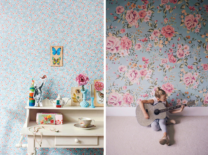 Black Vintage Wallpaper Wallpapers For Girls Rooms By Kids Interiors