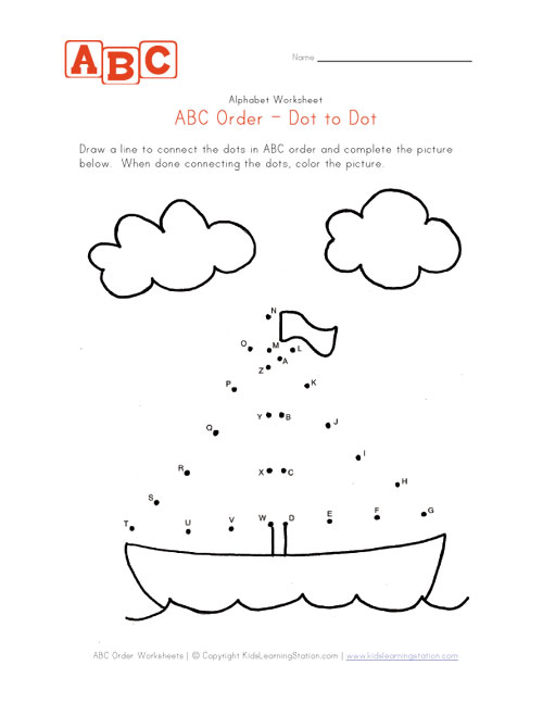 Dot To Dot Abc Printables | CV Resumes Job Sample