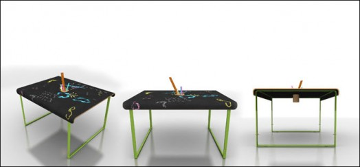 Awesome Kids Chalkboard Tables And Chairs From Lol Kids Kidsomania