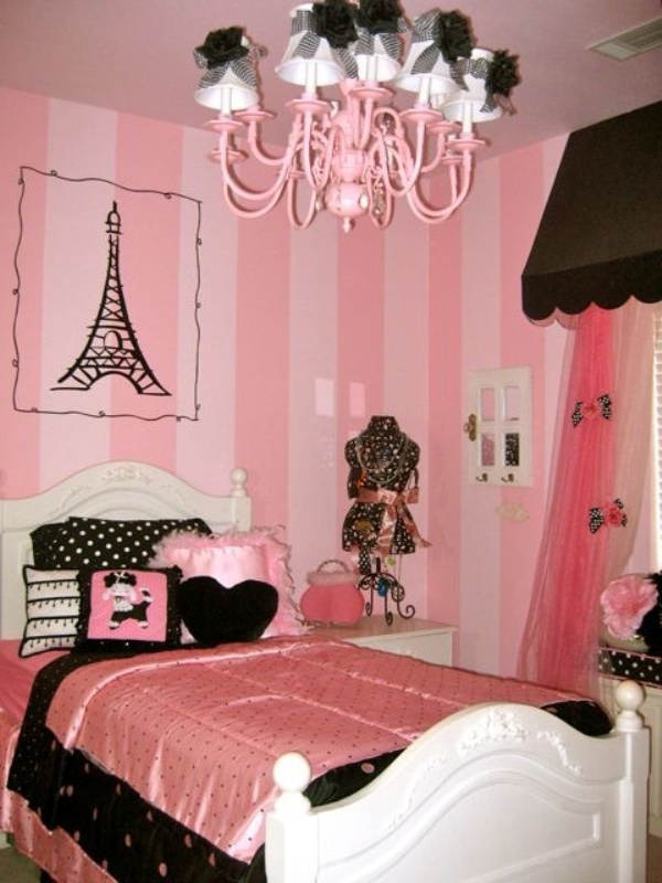 create charming girl paris themed bedrooms