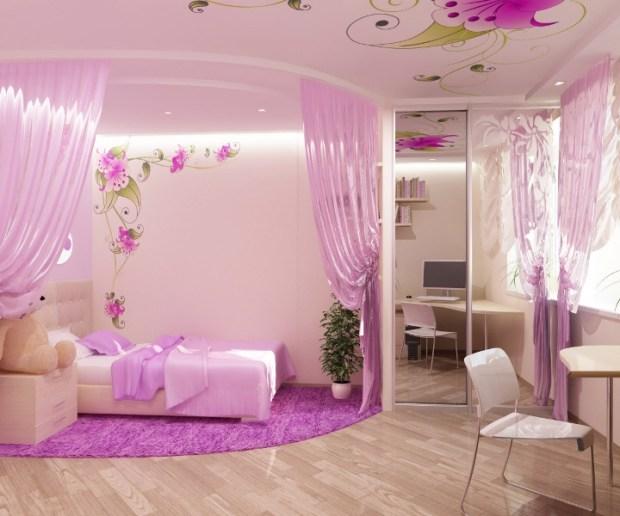 pink bedroom design little ideas