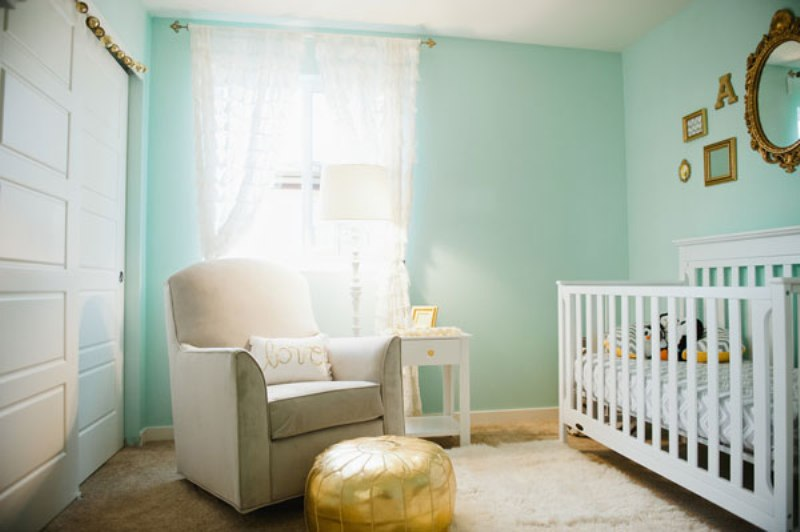 Cute Wallpapers Green Mint Cute Aqua And Gold Baby Girl S Nursery Inspiration