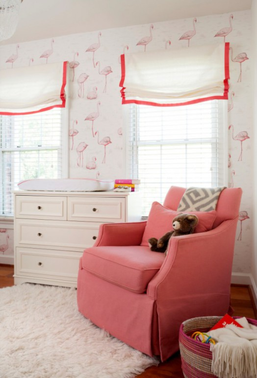 Cute Little Kid Wallpapers Cheerful And Feminine Pink And White Baby Girl Nursery