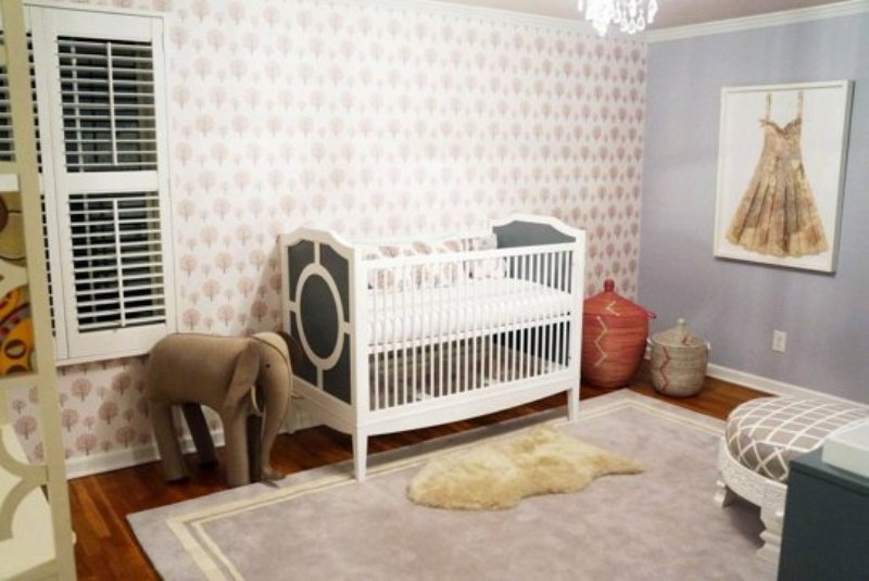 Girl Boy Cute Wallpaper Sophisticated And Cozy Baby Girl Nursery Design
