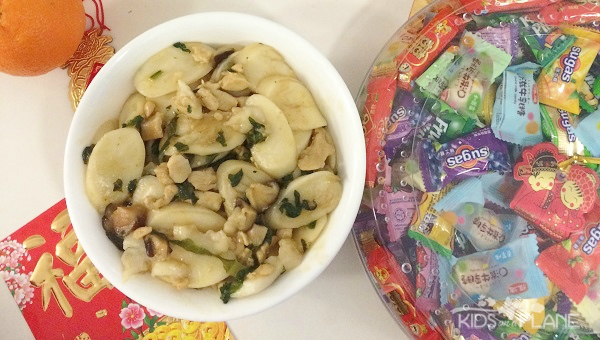 ... Chinese New Year at Home: Stir Fried Sticky Rice Cake (Nian Gao