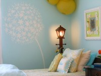 Artistically Stenciled Kids' Room Walls | KidSpace Interiors
