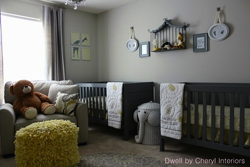 Girl Room Wallpaper And Fablic With Animal Baby Nursery Decor Series Room For Twins
