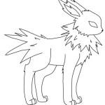 Pokemon Jolteon Coloring Pages