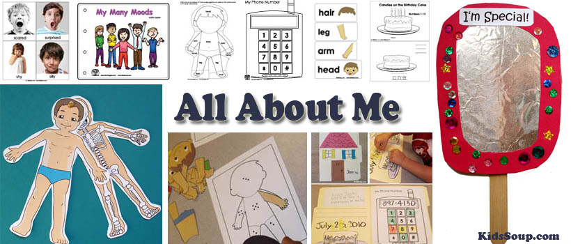All About Me Activities, Crafts, and Lessons Plans KidsSoup