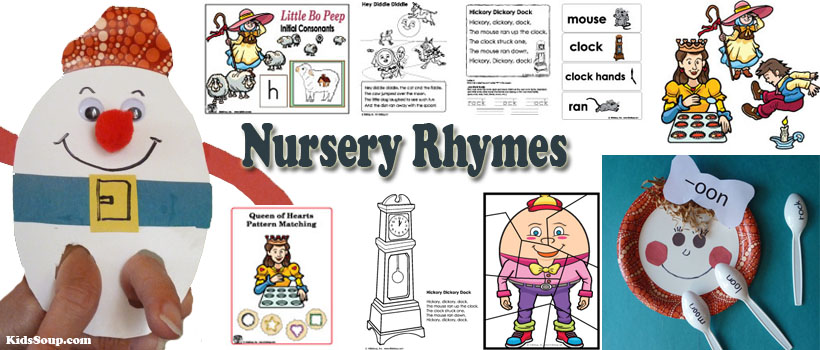 Nursery Rhymes Activities, Crafts, Lessons, and Printables KidsSoup