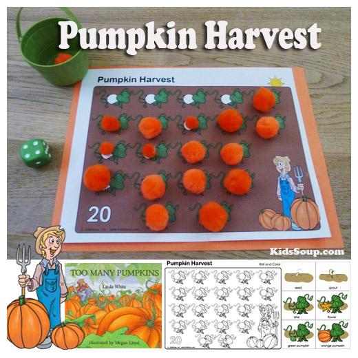 Pumpkin Harvest Activities and Game KidsSoup
