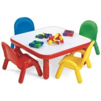 Angeles Baseline Toddler Square Table and 4 Chair Set ...