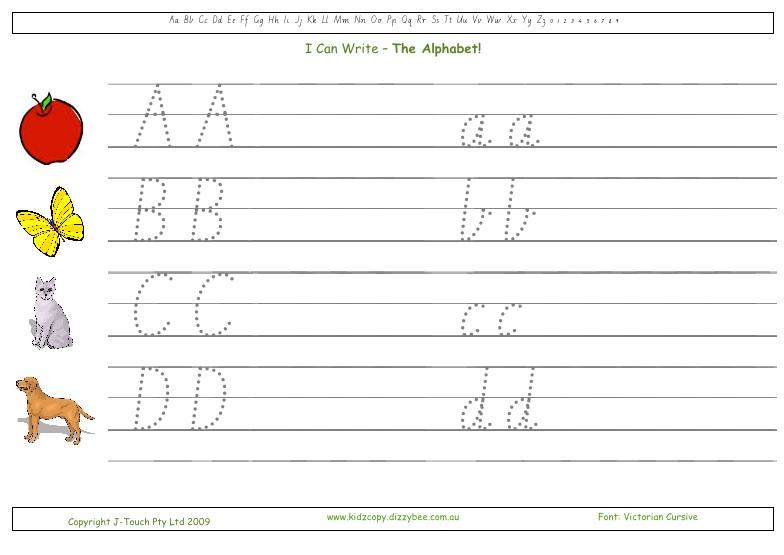 I Can Write - The Alphabet! KidzCopy - practice alphabet writing