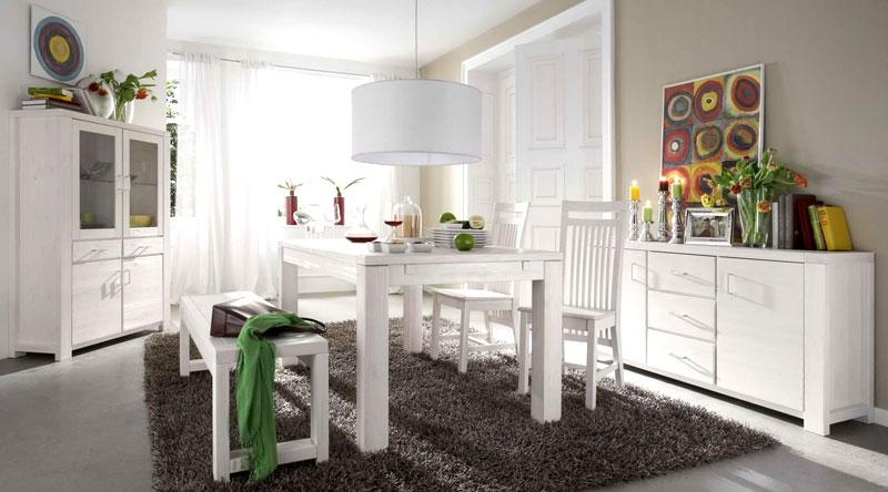 Esszimmer Weiß Holz rheumri - esszimmer weiss