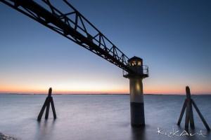 Het blauwe uur aan het Lauwersmeer