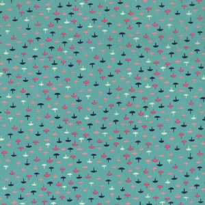 Kim decided this print should be called Tacks to go with the Homebody theme, but if you want them to be mushrooms or umbrellas, that's OK too. Tacks was originally a vintage cotton print from the mid 20th century. The two quilting cotton colorways are Rust and Teal, and there is one colorway, Coral, printed on Cotton + Steel's wonderful cotton lawn.   SKU #3005-001